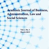 Academic Journal of Business, Administration, Law and Social Sciences ISSN 2410-3918