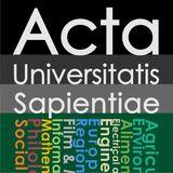 Acta Universitatis Sapientiae
