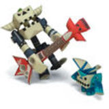PIPEROID Linda /& Doby paper craft robot kit from Japan Punk Rock Idol /& Her Manager KOTO CO LTD PPRD-LDBY