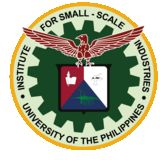 University of the Philippines Institute for Small-Scale Industries Logo